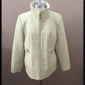 NWOT Gallery Lt Green Lightweight Quilted Jacket